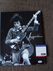 Angus Young AC/DC Vintage Live Signed Autographed 11x14 Photo PSA Certified #18
