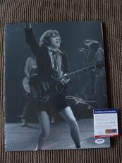 Angus Young AC/DC Vintage Live Signed Autographed 11x14 Photo PSA Certified #19