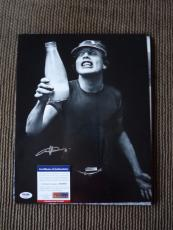 Angus Young AC/DC Vintage Live Signed Autographed 11x14 Photo PSA Certified #20