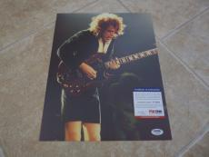 Angus Young AC/DC Vintage Live Signed Autographed 11x14 Photo PSA Certified #22