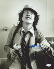"Angus Young Autographed 11"" x 14""  AC/DC Holding Coke Can Photograph - JSA LOA"