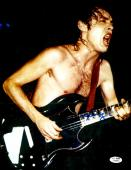 "Angus Young Autographed 11"" x 14""  AC/DC Playing Guitar With No Shirt Vertical Photograph - JSA COA"