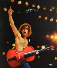 "Angus Young Autographed 20""x 24"" AC/DC Arm in Air Stretched Canvas - BAS COA"