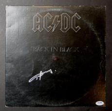 Angus Young Autographed AC/DC Back In Black Album Signed PSA DNA COA