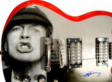 Angus Young Autographed Signed Ac/Dc Airbrushed Guitar