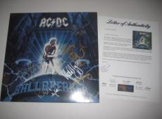 ANGUS YOUNG MALCOLM YOUNG JOHNSON RUDD & WILLIAMS  Signed AC/DC Album w/ PSA COA