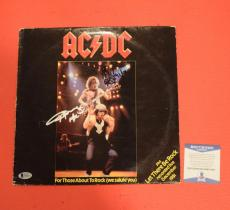 Angus Young & Malcolm Young Signed Autographed AC/DC Vinyl Record Album BAS COA