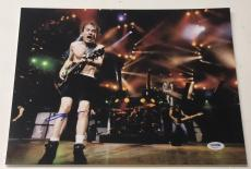 Angus Young Signed 11x14 Photo Ac/dc Authentic Autograph Psa/dna Coa Proof Pic D