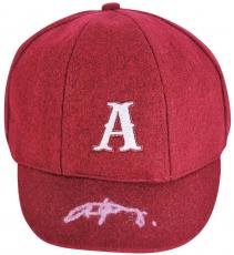 "Angus Young Signed ""A"" AC/DC School Boy HAT CAP Autographed BAS"