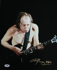 Angus Young Signed 'ac/dc' 11x14 Photo Authentic Autograph Psa/dna