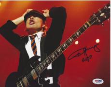 ANGUS YOUNG Signed AC/DC Concert 8 x10 PHOTO with PSA/DNA LOA & GRADED 10