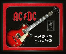 Angus Young Signed AcDc LP Guitar Shadowbox Display Case AFTAL UACC RD COA