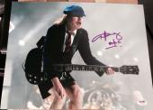 Angus Young Signed Autograph Ac/dc Classic Pose Stage 11x14 Photo Psa/dna Z70419