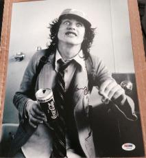 Angus Young Signed Autograph Acdc Vintage Young Promo 11x14 Photo Psa/dna Z70418