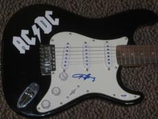 Angus Young Signed Autograph Full Size Electric Guitar Ac/dc Proof Pic Coa Psa