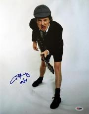 ANGUS YOUNG SIGNED AUTOGRAPHED 11x14 PHOTO AC/DC ROCK LEGEND VERY RARE PSA/DNA
