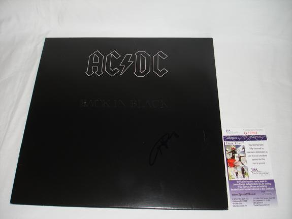 Angus Young Signed   Autographed Back in Black Album   LP - JSA Certified