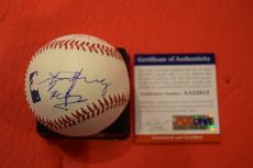 Angus Young Signed Autographed MLB Baseball AC/DC PSA/DNA COA w/ RARE SKETCH