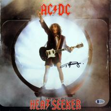 Angus Young Signed Heat Seeker Album Cover W/ Vinyl Autographed BAS #C19439