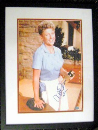 Ann B Davis autographed 11x14 picture (Brady Bunch Alice Maid) matted and framed