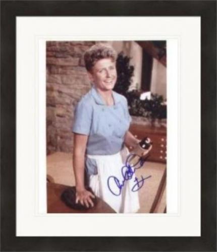 Ann B. Davis autographed 8x10 Photo (Actress, Brady Bunch) Matted & Framed