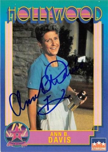 Ann B Davis autographed trading Card (Alice Brady Bunch) 1991 Hollywood Walk of Fame #103
