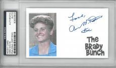 Ann B. Davis Signed The Brady Bunch Auto Index Card Slabbed PSA/DNA #83933803