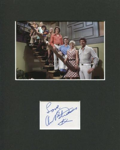 Ann B Davis The Brady Bunch Alice Signed Autograph Photo Display With Cast