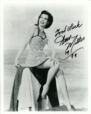 ANN MILLER HAND SIGNED 8x10 PHOTO+COA       GORGEOUS HOLLYWOOD LEGEND