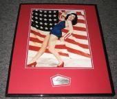 Ann Miller LEGGY Signed Framed 16x20 Photo Display JSA