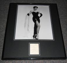 Ann Miller SEXY Leggy Signed Framed 16x20 Photo Display