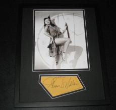 Ann Miller SEXY Signed Framed 11x14 Photo Display JSA