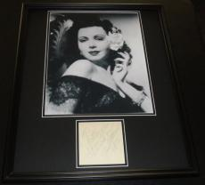 Ann Miller Signed Framed 16x20 Note & Photo Display
