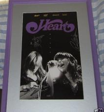 Ann Nancy Wilson auto signed autographed HEART 11x17 poster framed + signing pic