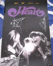 Ann & Nancy Wilson auto signed autographed HEART 11x17 poster with signing photo
