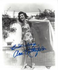 "ANN RUTHERFORD (ACTRESS) Best Known for her Role as CARREEN O'HARA in ""GONE WITH THE WIND"" Signed 8x10 B/W Photo"