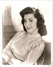 Ann Rutherford Autographed 8x10 photo