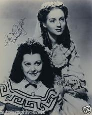 Ann Rutherford Evelyn Keyes Signed Gone With The Wind