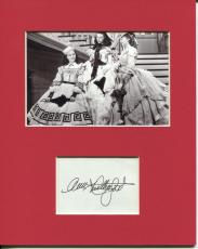 Ann Rutherford Gone With The Wind Carreen Rare Signed Autograph Photo Display