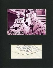 Ann Rutherford Gone With The Wind Signed Autograph Photo Display W/ Vivien Leigh