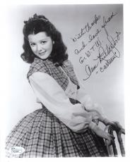 ANN RUTHERFORD HAND SIGNED 8x10 PHOTO    CARREEN     GONE WITH THE WIND     JSA