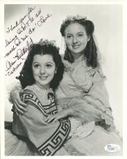 ANN RUTHERFORD HAND SIGNED 8x10 PHOTO    RARE GONE WITH WIND INSCRIPTION     JSA
