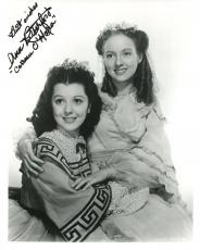 ANN RUTHERFORD HAND SIGNED 8x10 PHOTO+COA      AMAZING POSE GONE WITH THE WIND