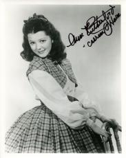 ANN RUTHERFORD HAND SIGNED 8x10 PHOTO+COA      CARREEN FROM GONE WITH THE WIND