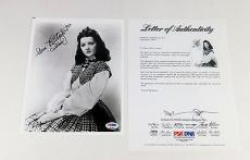 Ann Rutherford Signed 8 x 10 B & W Photo Actress Gone With The Wind PSA/DNA Auto
