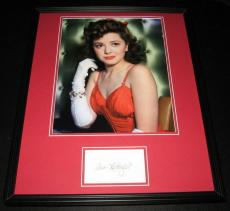 Ann Rutherford Signed Framed 16x20 Photo Poster Display Gone With the Wind