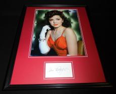 Ann Rutherford Signed Framed 16x20 Photo Poster Display Gone With the Wind C