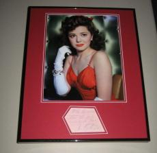 Ann Rutherford Signed Framed 16x20 Photo Poster Display JSA Gone With the Wind