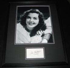 Ann Rutherford Signed Framed 16x20 Photo Poster Display JSA Gone With the Wind B