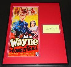 Ann Rutherford Signed Framed 16x20 Photo Poster Display The Lonely Trail